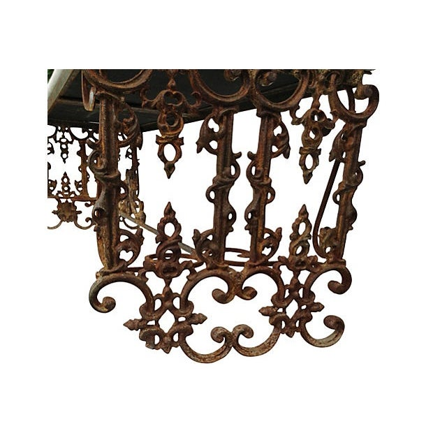 Hand-Forged Iron Bench - Image 5 of 6
