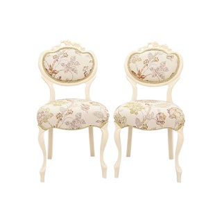 Rococo Parlor Side Chairs - A Pair