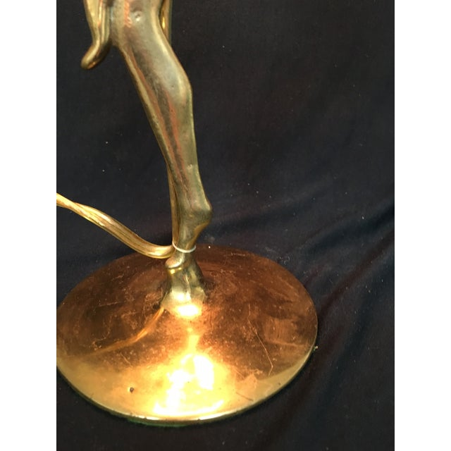 Art Deco Style Brass Table Lamp - Image 5 of 6