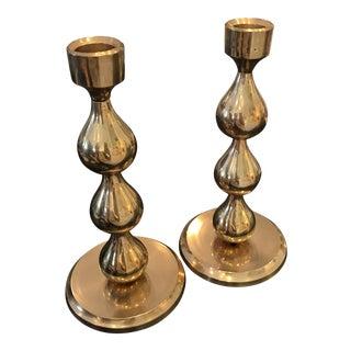 Brass Candlesticks - A Pair