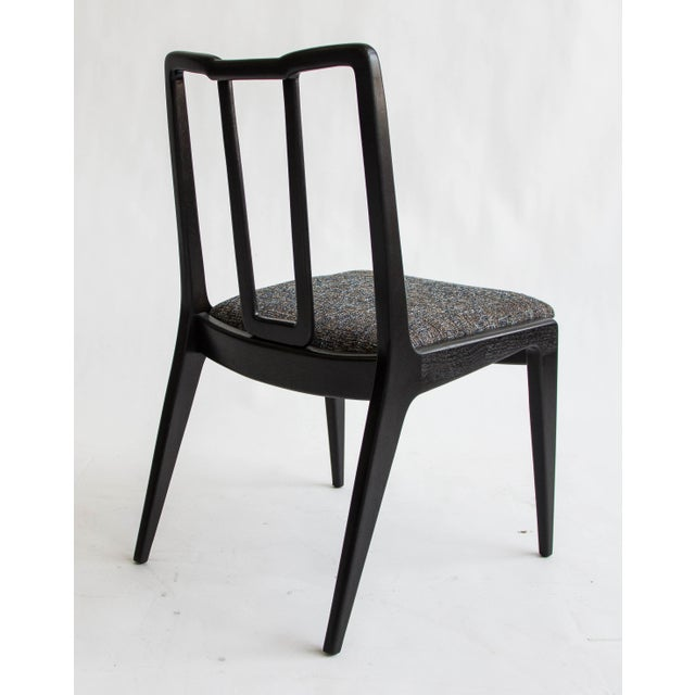 Ebonized John Stuart Dining Chairs - Set of 4 - Image 3 of 7