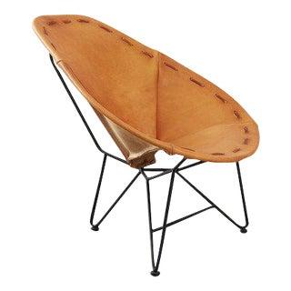 Garza Marfa Oval Leather Chair
