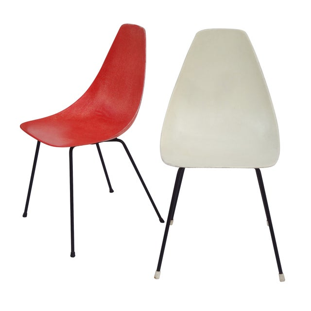 Vintage 1960s Fiberglass Shell Chairs - Set of 4 - Image 6 of 9