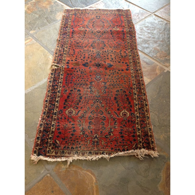 """Vintage Red Persian Rug - 2' 7"""" x 5' 10"""" - Image 2 of 5"""