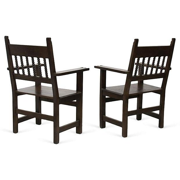 Spanish Armchairs - A Pair - Image 4 of 4
