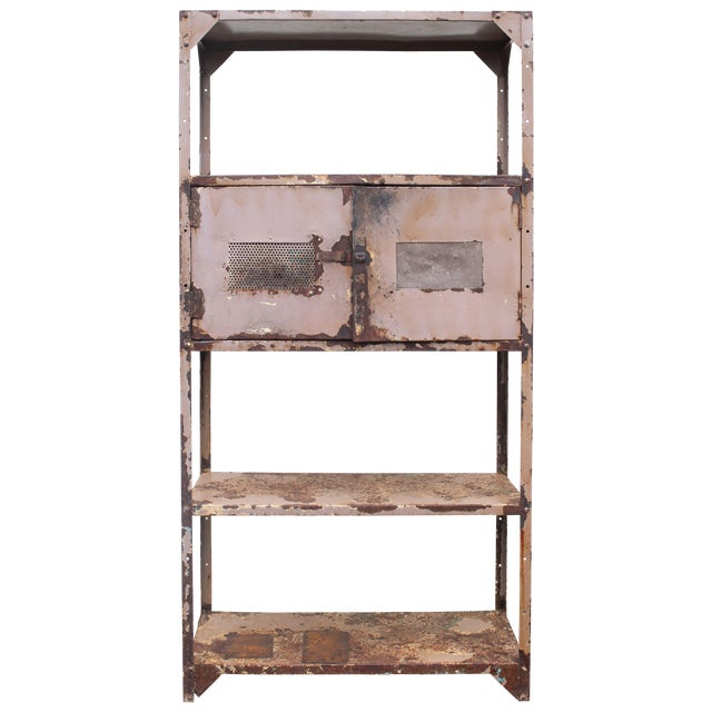 Vintage Industrial Mauve Iron Rack - Image 1 of 6
