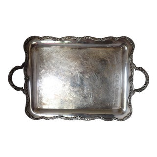 American Silver-plate Serving Tray International Silver Co., 23 x 14 x 1.5 V. Good