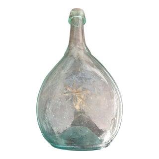 Bottle Pontil Sheaf Wheat Star Calabash Oval Glass Flask