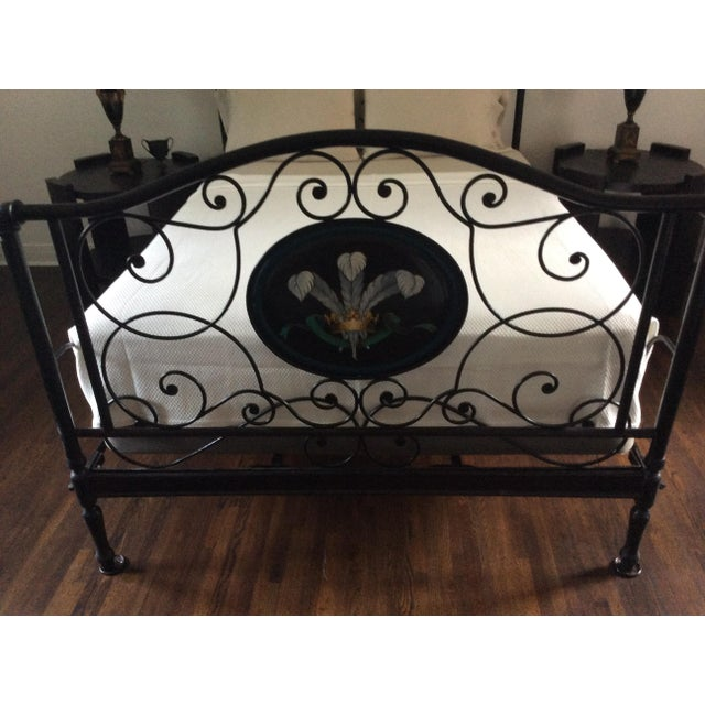 Ornate Iron Queen Size Bed - Image 4 of 5