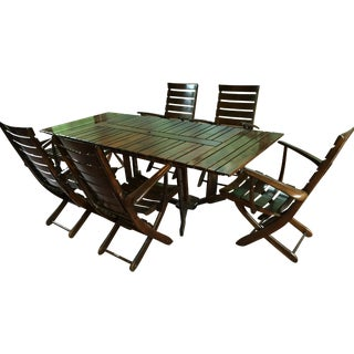 Vintage Triconfort Teak Outdoor Dining Set