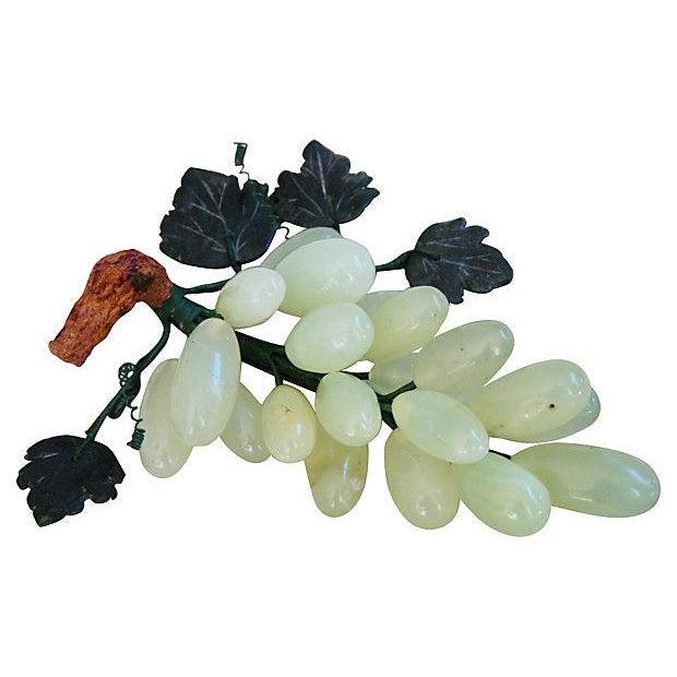 Vintage Carved Jade & Stone Grape Bunch - Image 3 of 4