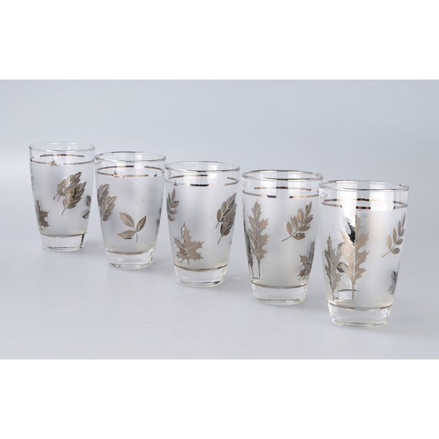 Silver Leaf Drinking Glasses Set - Set of 6 - Image 4 of 7