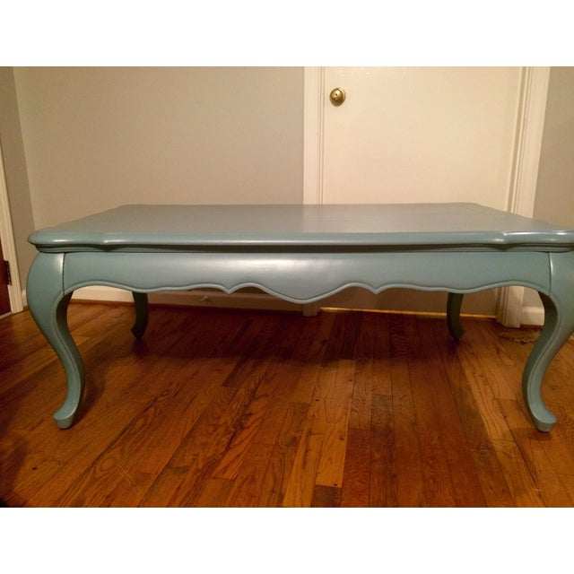 White Coffee Table Near Me: Paris Grey Chalk Painted Coffee End Table