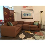 Image of Vintage Reupholstered Milo Baughman Five-Piece Sectional Sofa by Thayer Coggin