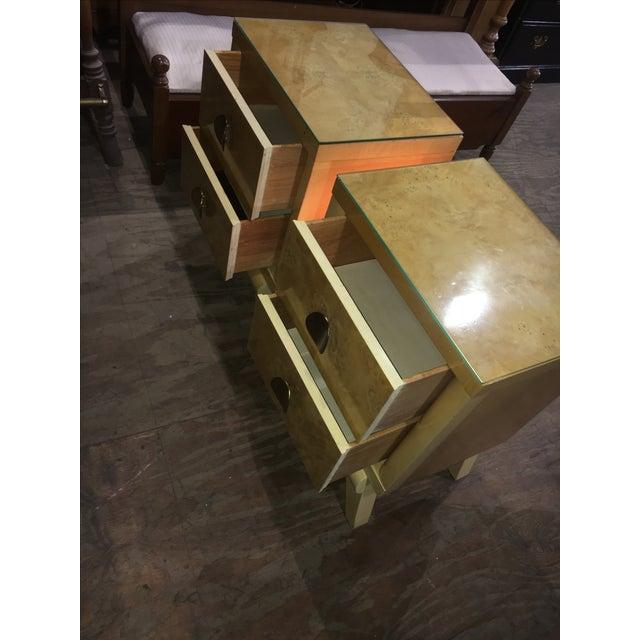 Mid-Century Blonde Nightstands Side Tables - Pair - Image 4 of 11