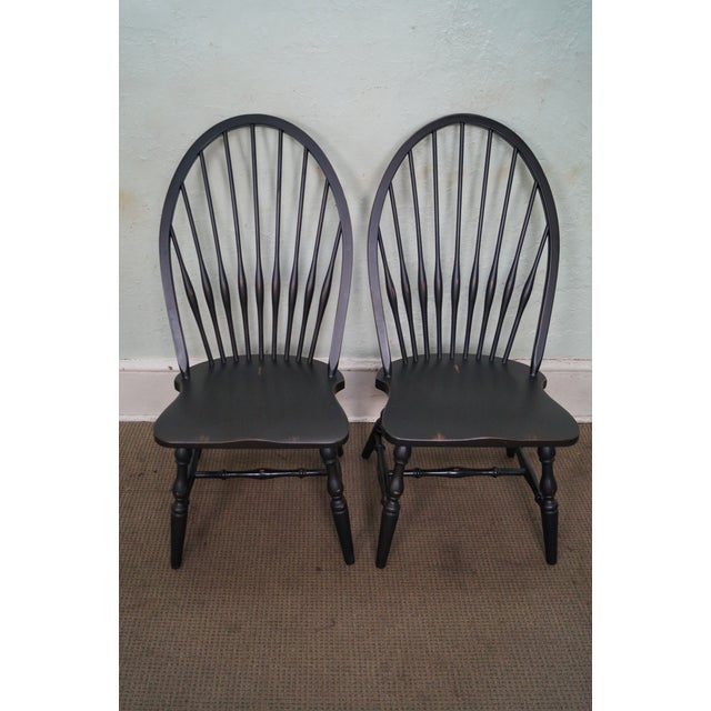 restoration hardware black painted windsor dining chairs. Black Bedroom Furniture Sets. Home Design Ideas