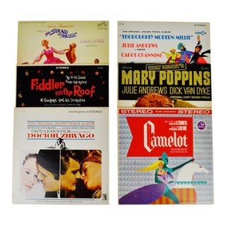 Decorative Motion Picture Soundtrack LP Covers - Set of 6