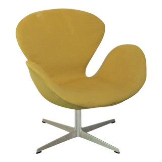 Fritz Hansen Yellow Swan Chair
