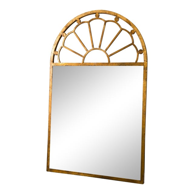 Image of Gilt Encrusted Iron Arch Mirror