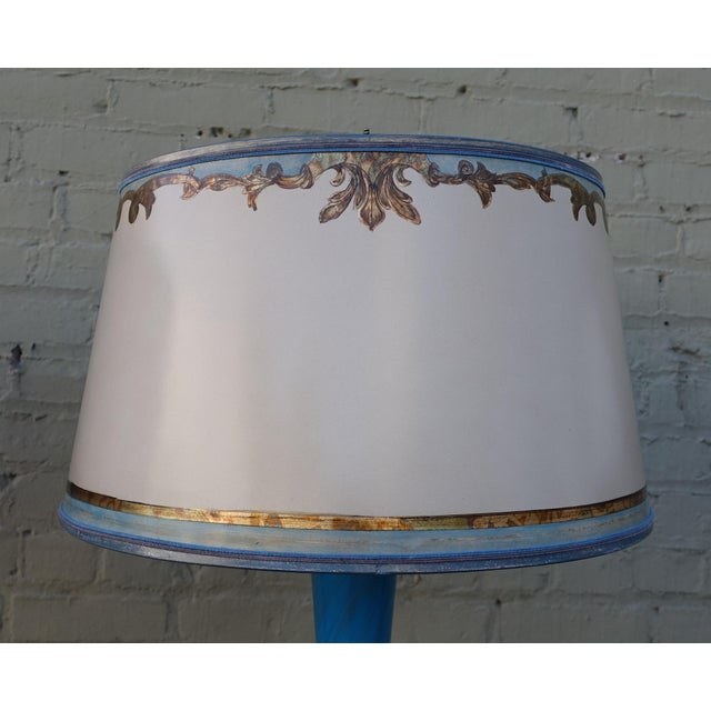 Turquoise Murano Glass Lamps - A Pair - Image 8 of 9