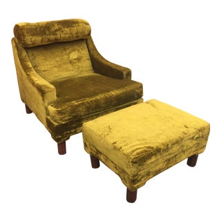 Mid-Century Lounge Chair & Ottoman