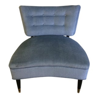 Vintage Klismos Style Accent Chair