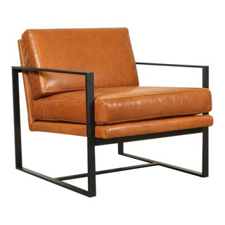 Leather Box Chairs by Lawson-Fenning