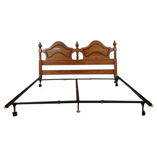 Vintage Carved Oak King Size Headboard