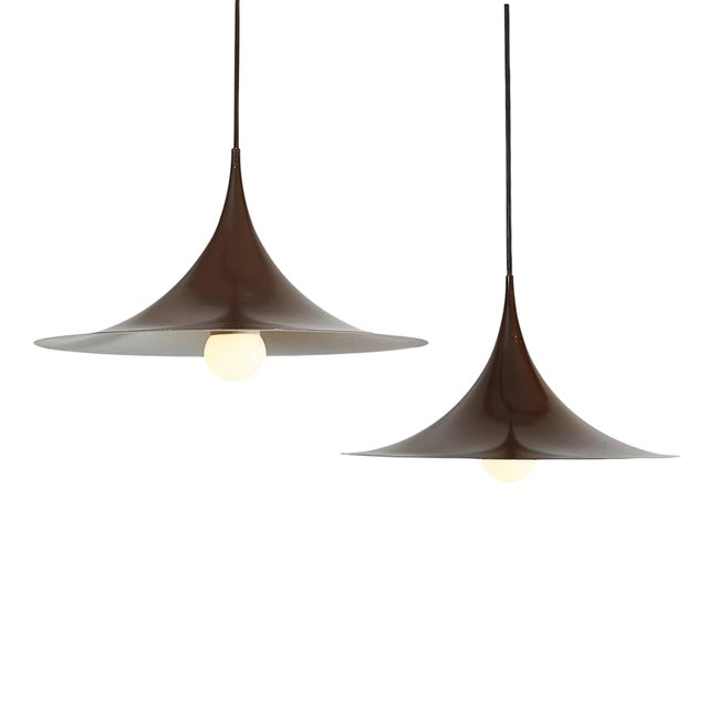 Semi Pendant Lamps by Claus Bonderup & Thorsten Thorup, Pair - Image 1 of 5