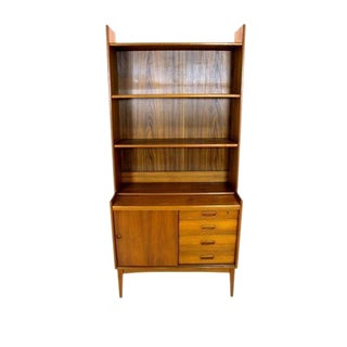 Vintage Danish Modern Teak Secretary Bookcase