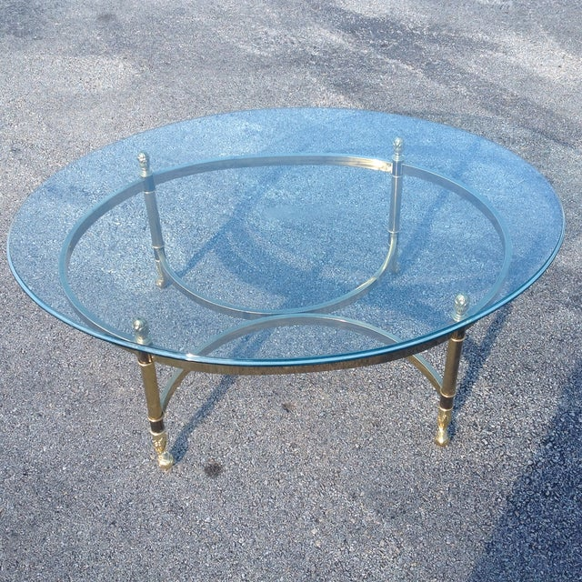 Lebarge Brass Hollywood Regency Coffee Table - Image 5 of 5