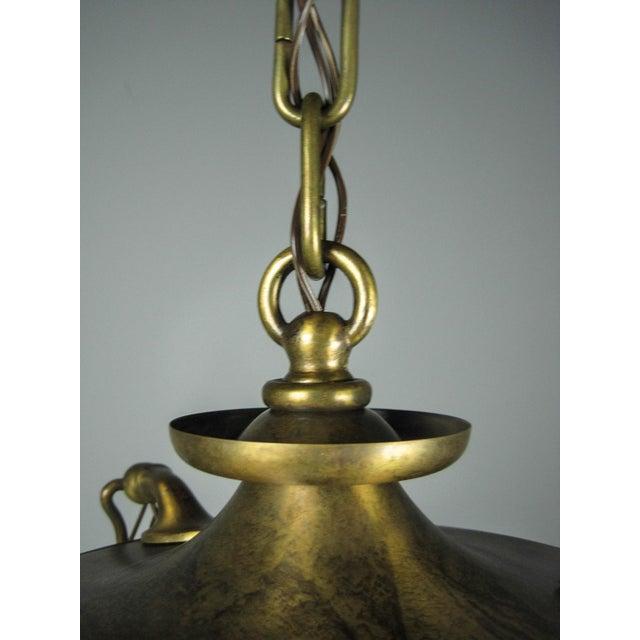 Original Arts & Crafts Pan Light Fixture (3-Light) - Image 6 of 8