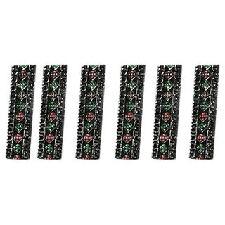 Black, Silver & Jewel-Colored Knife Rests - S/6