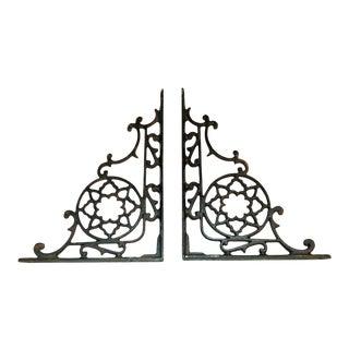 Eastlake Style Iron Shelf Brackets - A Pair