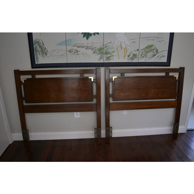 Image of Dixie Campaign Twin Headboards - Set of 2