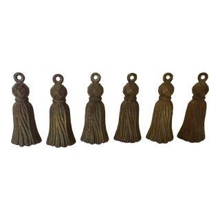 Italian Gilt Metal Tassels - Set of 6