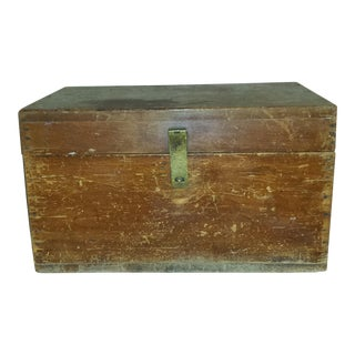 1910s Antique Campaign Map Chest
