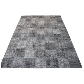 Gray Turkish Patchwork Rug - 8′10″ × 12′