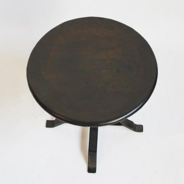 Industrial Iron Twist Stool - Image 3 of 4