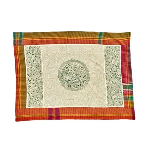 Hand-Stitched Tribal Kantha Throw Blanket