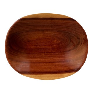 Vintage Hand Carved Wood Bowl