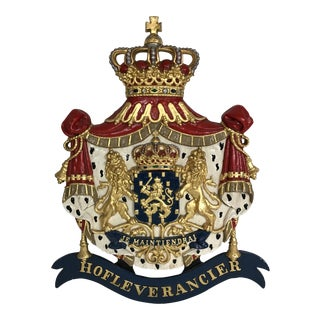 Dutch Cast Iron Coat of Arms of the Netherlands