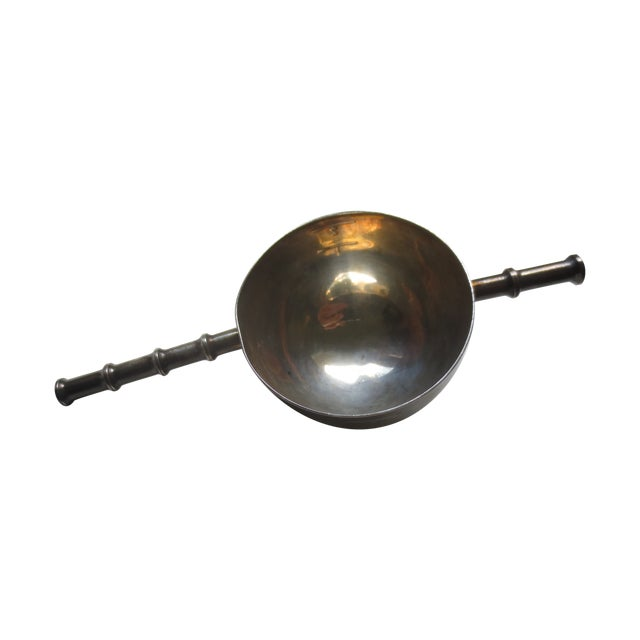 Image of Vintage Silver Plate Faux Bamboo Jigger