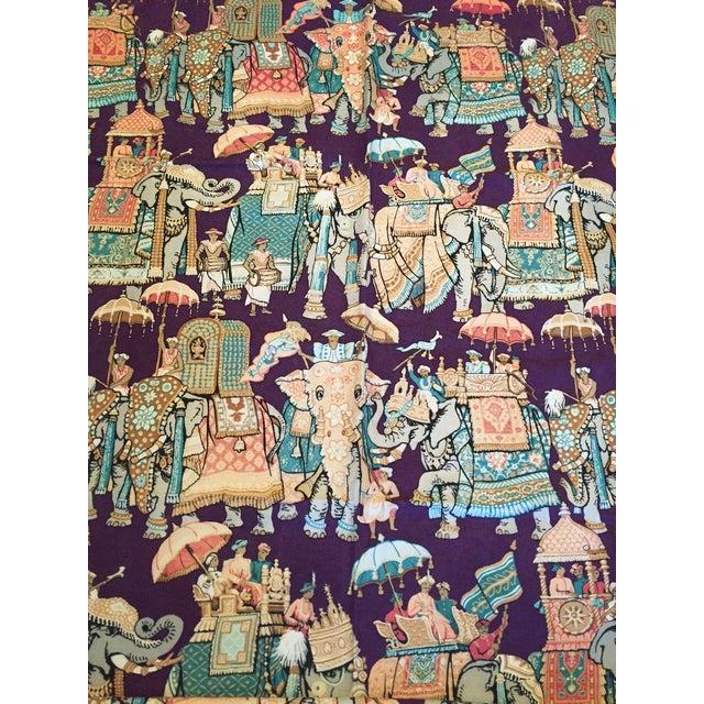 Vintage India Elephant Festival Fabric - 2 Panels - Image 1 of 6