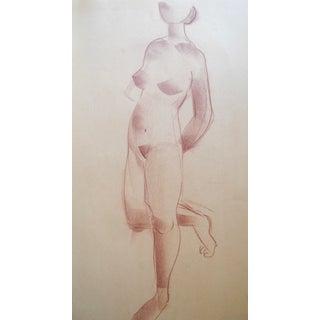1940s Cubist Figurative Drawing