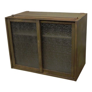 Remington Rand Industrial Green Steel Metal Stacking Barrister Storage Cabinet