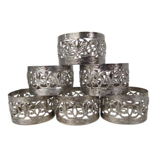 Flur De Lis Napkin Rings - Set of 6