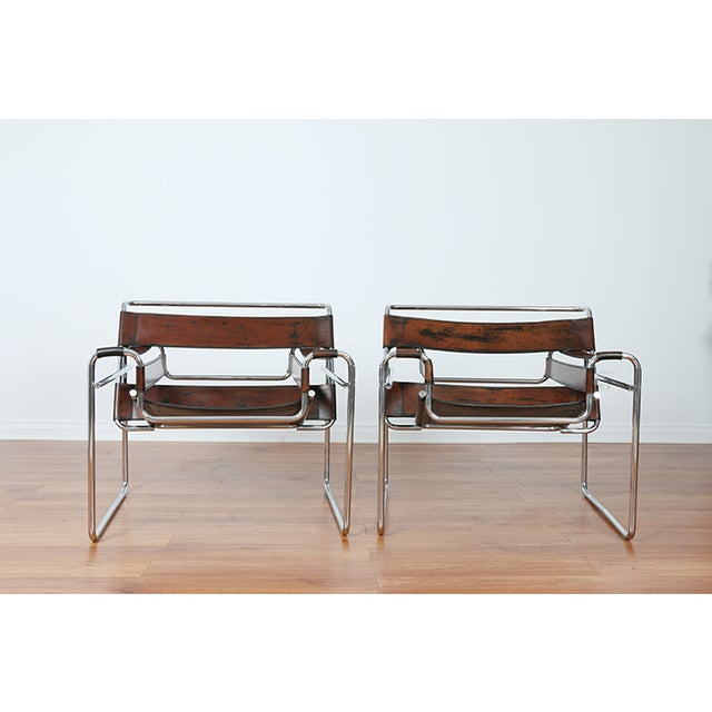 Image of Wassily Leather Chairs - A Pair