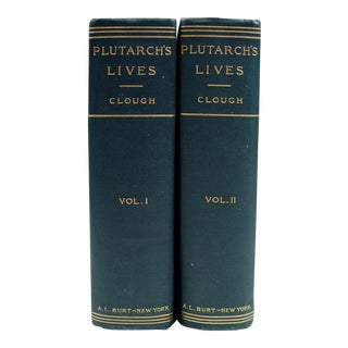 1900 Plutarch's Lives Books- A Pair