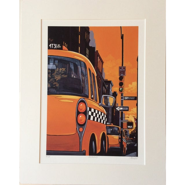 """""""Broadway"""" Neo-Pop Signed Silkscreen - Boudro - Image 2 of 4"""